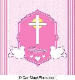 doop, uitnodiging, ontwerp