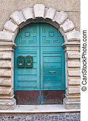 door., ∥ディ∥, 木製である, italy., lucania., satriano