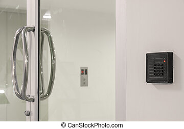 Door access control keypad with keycard reader