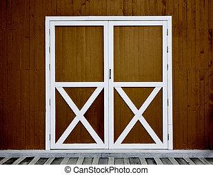 door and wall wooden background