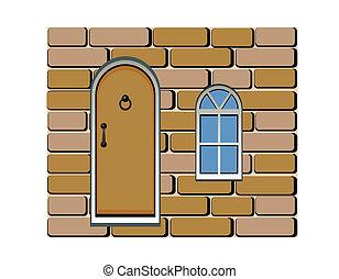 door and window background