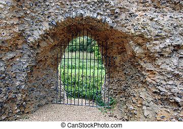 Door at Odiham Castle, Hampshire