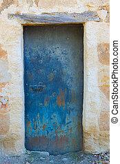 Door background on a facade