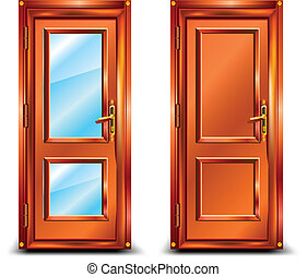 ... Door closed from wood and glass classic design with lock.  sc 1 st  Can Stock Photo & Door closed Illustrations and Stock Art. 27165 Door closed ...