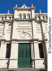 Door facade of colonial building