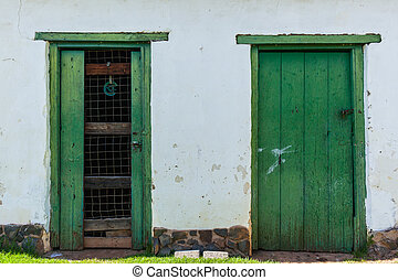 Door Frames Wall Outside
