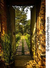 Door - Gate to the paradise-door in Thailand's garden.