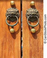 Door Handle at Jing An Temple