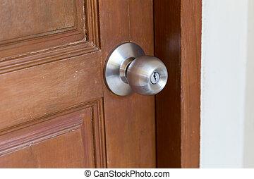 Door handle closeup