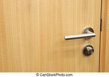 Door handle  - Handle of an office wood door