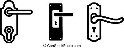 door handle icon isolated on white background