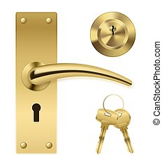 Door Handle Key Set