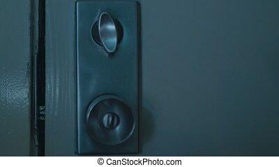 door handle, lock opens and closes - Modern style door...