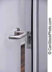 Door handle - Modern front door, chrome handle