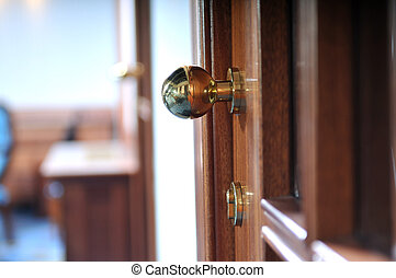 door handle - wood door luxury handle open