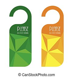 door hanger, do not disturb sign with triangle design