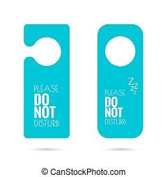 door hanger set. do not disturb. blue