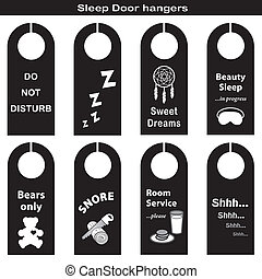 Door Hangers for Sleep Time - Door Hangers for sleep time in...