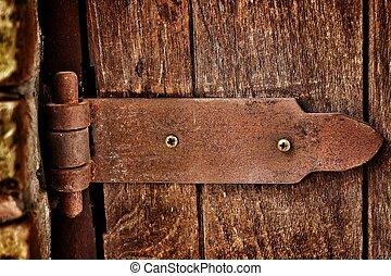 Door hinges.