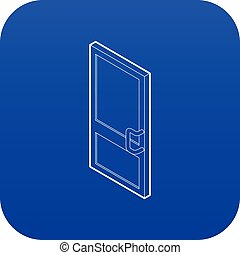 Door icon blue vector