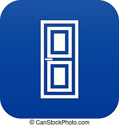 Door icon digital blue