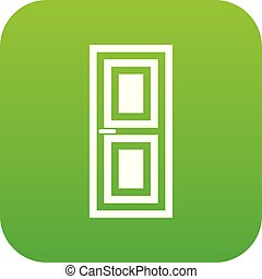 Door icon digital green