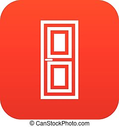 Door icon digital red