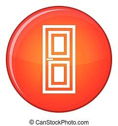 Door icon, flat style
