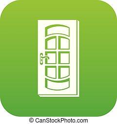 Door icon green vector