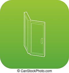Door icon green vector