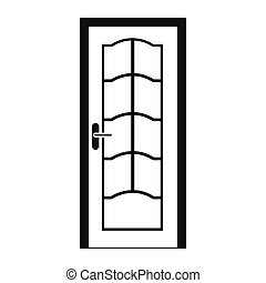 Door icon in simple style