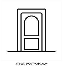 Door icon on a white background. Vector