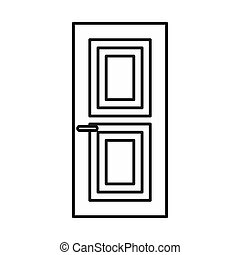 Door icon, outline style