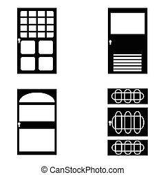 door icon set