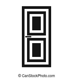 Door icon, simple style