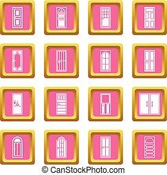 Door icons pink