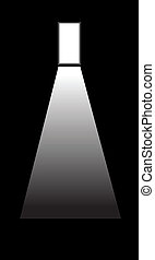 door in darkness - an exit or entrance to a darkness, for...