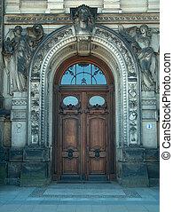 Door in Dresden - Old door in the city of Dresden - Germany