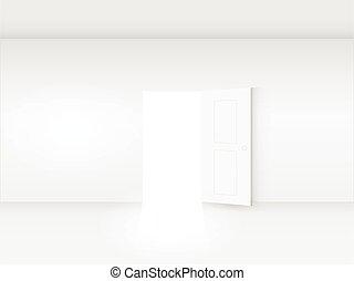Door in Room Illustration