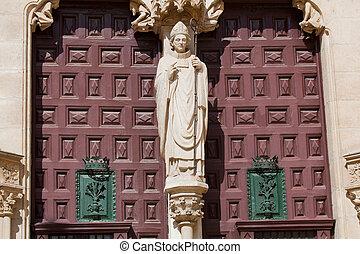 Door in the cathedral of Burgos, Castilla y Leon, Spain