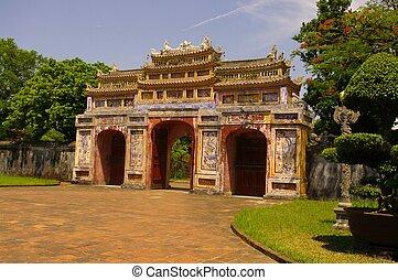 Door in the Forbidden City in Hue
