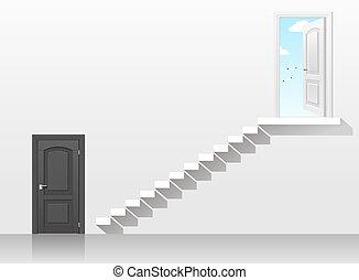 Door in the interior