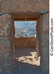 Door in the Masada ruins