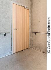 Door in the stairwell