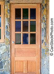 door in the stone wall