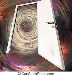 Door in time - The white door, space tunnel