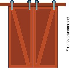 Door isolated vector illustration.
