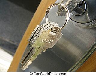 door key and lock