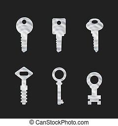 Door key set . eps 10 vector illustration - Door key set ....