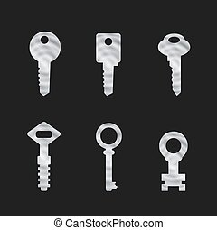 Door key set . eps 10 vector illustration - Door key set ....